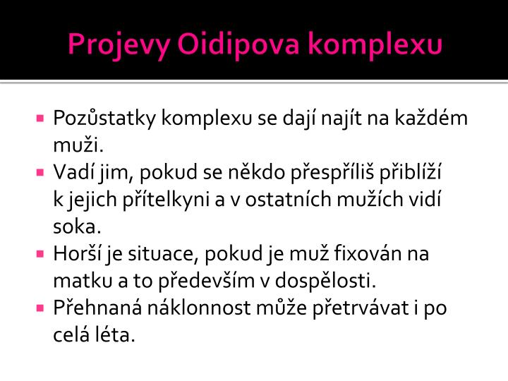 Projevy Oidipova komplexu