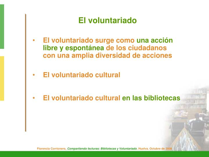 El voluntariado