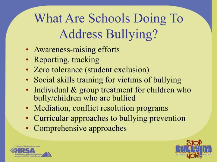 What Are Schools Doing To Address Bullying?