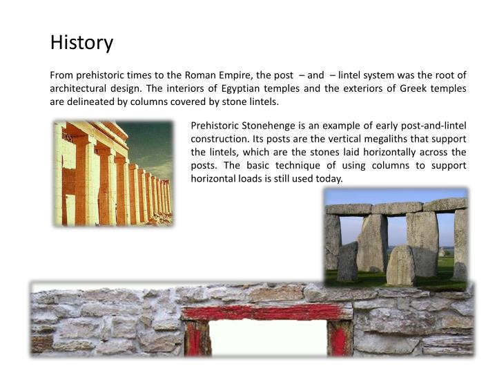 give an example of post and lintel construction