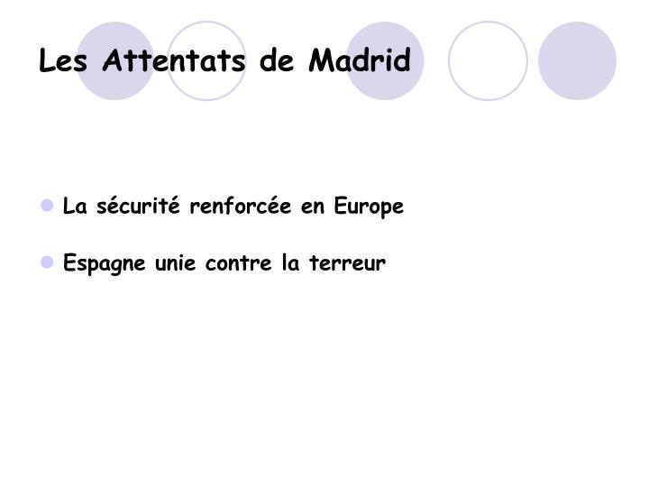 Les Attentats de Madrid