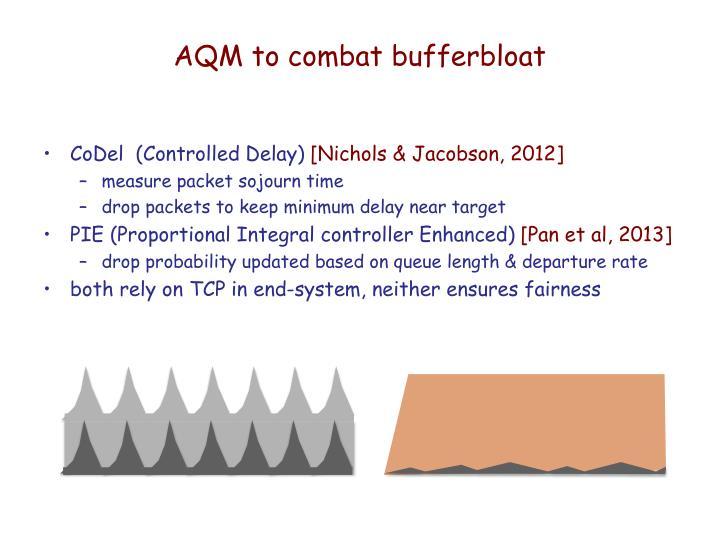 AQM to combat bufferbloat