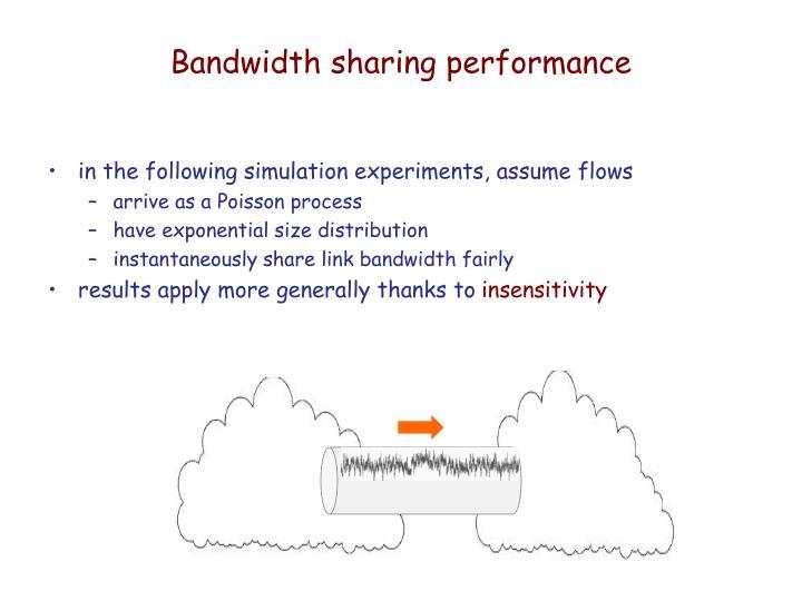 Bandwidth sharing performance
