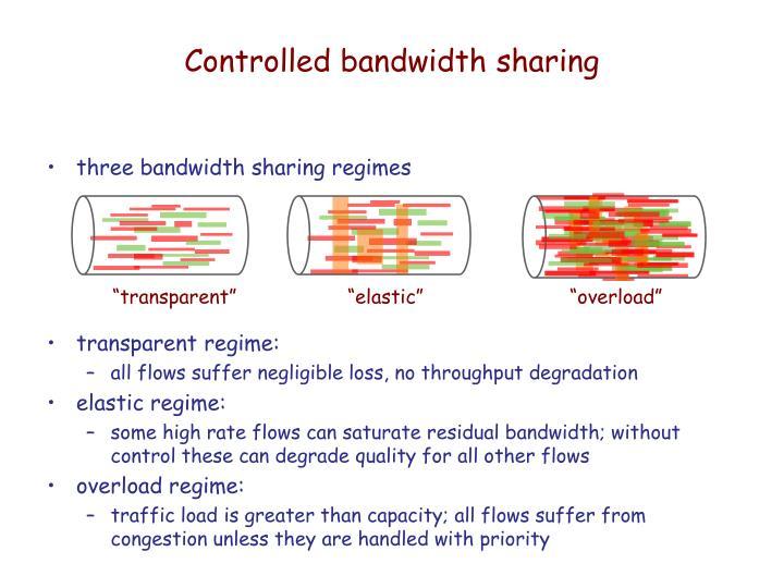 Controlled bandwidth sharing