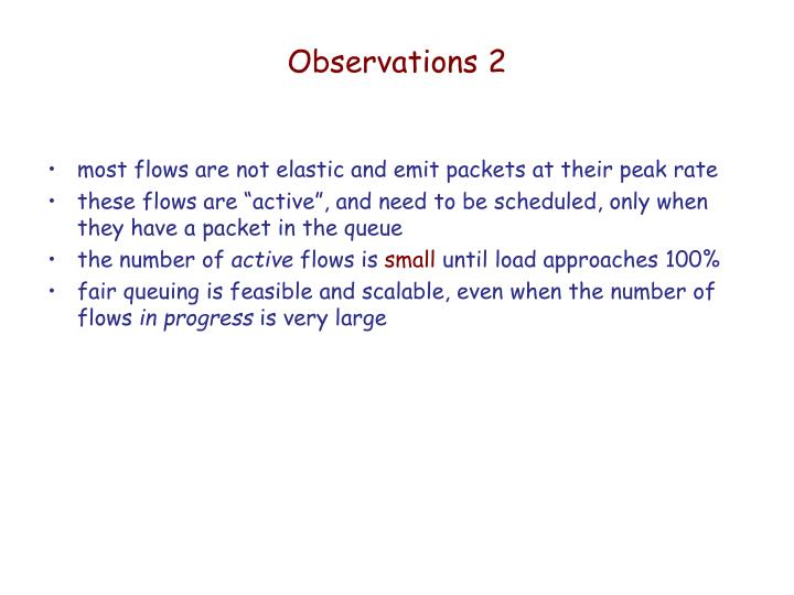 Observations 2