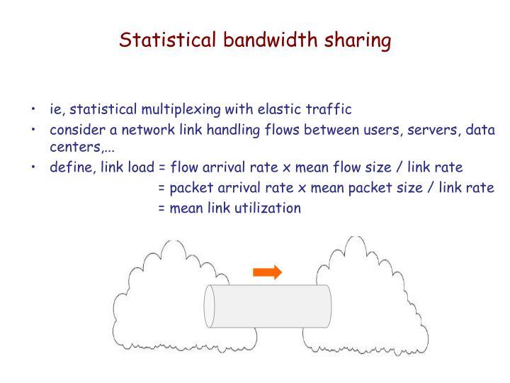 Statistical bandwidth sharing
