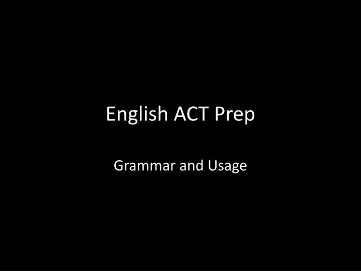 english act prep n.