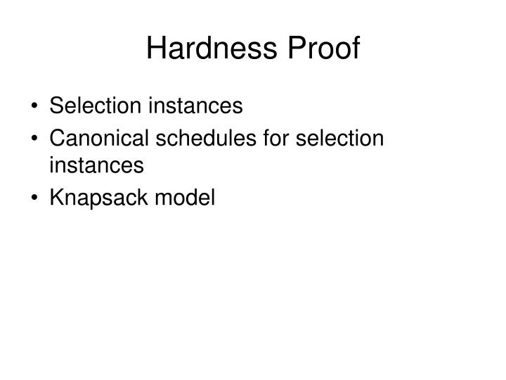 Hardness Proof