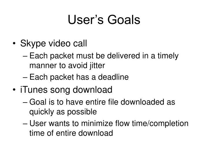User's Goals