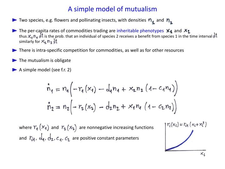 A simple model of mutualism