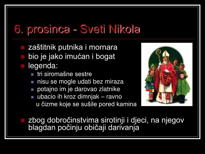 6. prosinca - Sveti Nikola