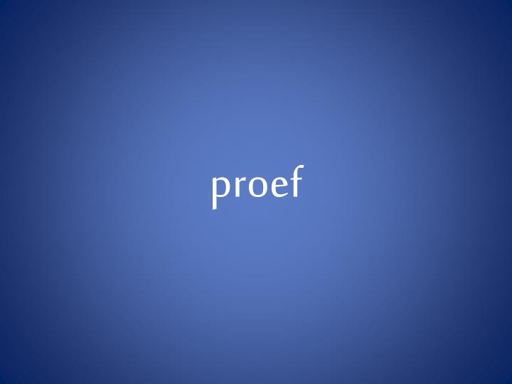 proef
