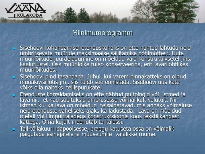 Miinimumprogramm