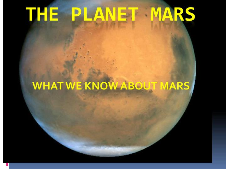 what we know about mars n.