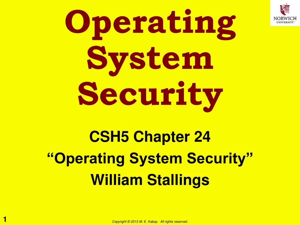 Ppt Operating System Security Powerpoint Presentation Id 5289366