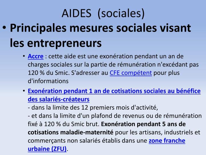 AIDES  (sociales)