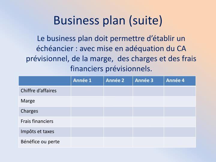 Business plan (suite)
