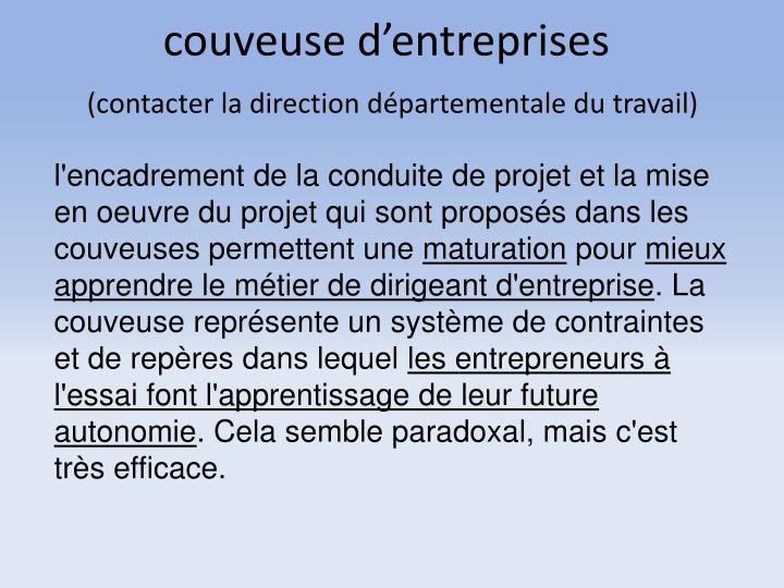 couveuse d'entreprises