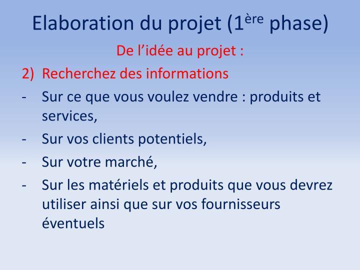 Elaboration du projet (1