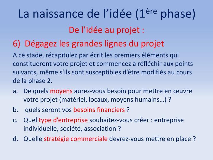 La naissance de l'idée (1