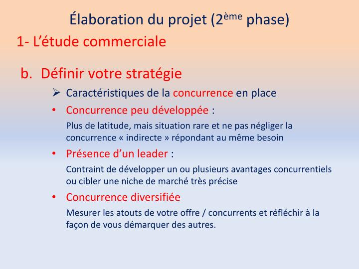 Élaboration du projet (2