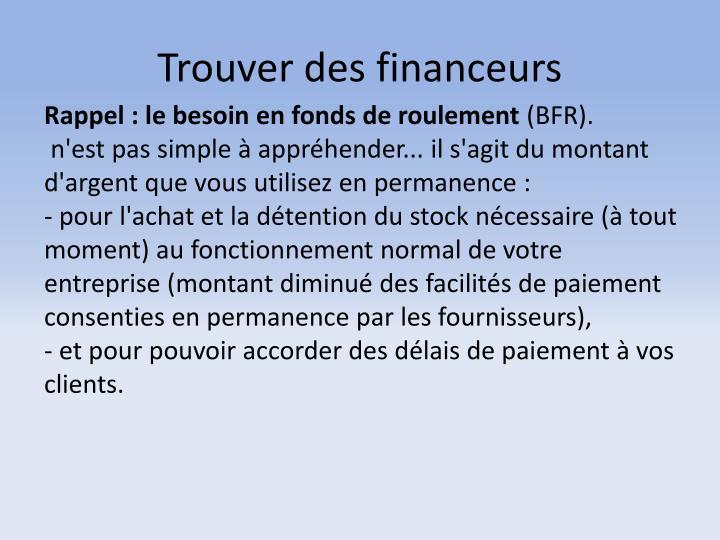 Trouver des financeurs