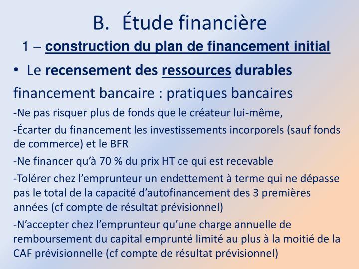 Étude financière