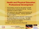 health and physical education professional development