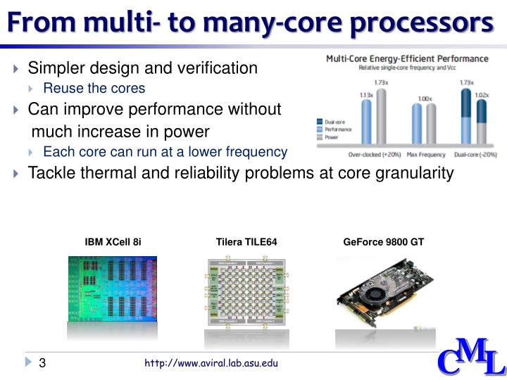 From multi to many core processors