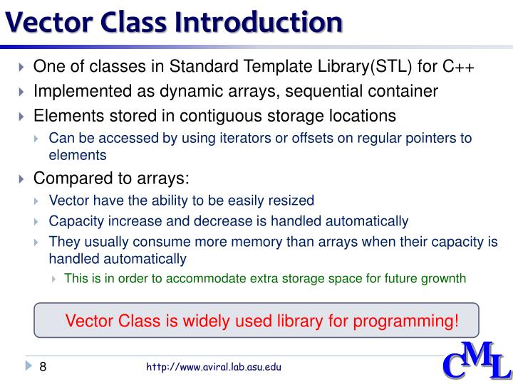 Vector Class Introduction