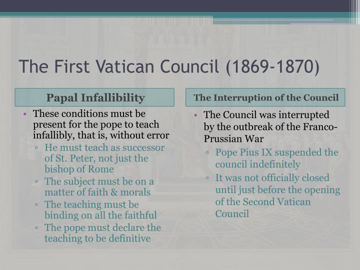 The first vatican council 1869 18701