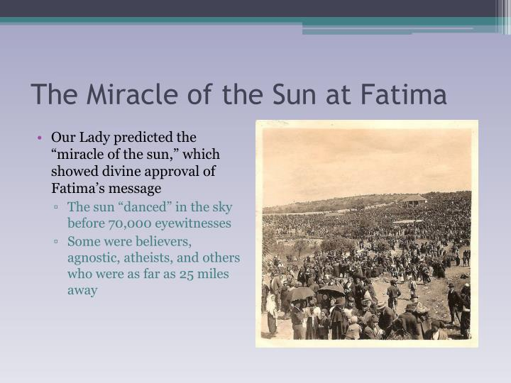 The Miracle of the Sun at Fatima