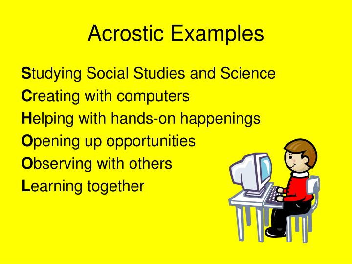 Ppt Writing An Acrostic Poem Powerpoint Presentation Id5290551