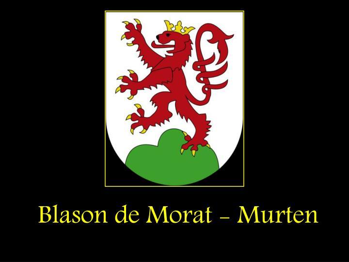 Blason de Morat - Murten