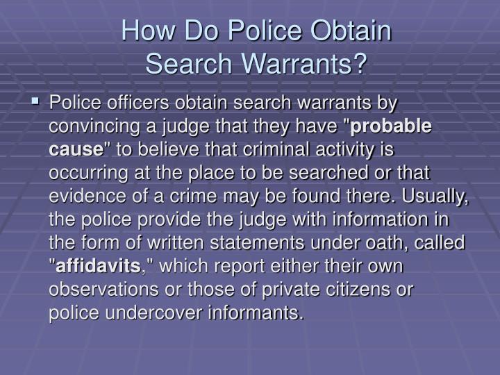 Search Warrants PowerPoint Presentation