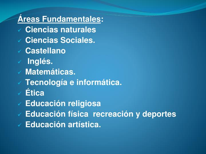 Áreas Fundamentales