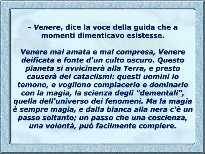 - Venere