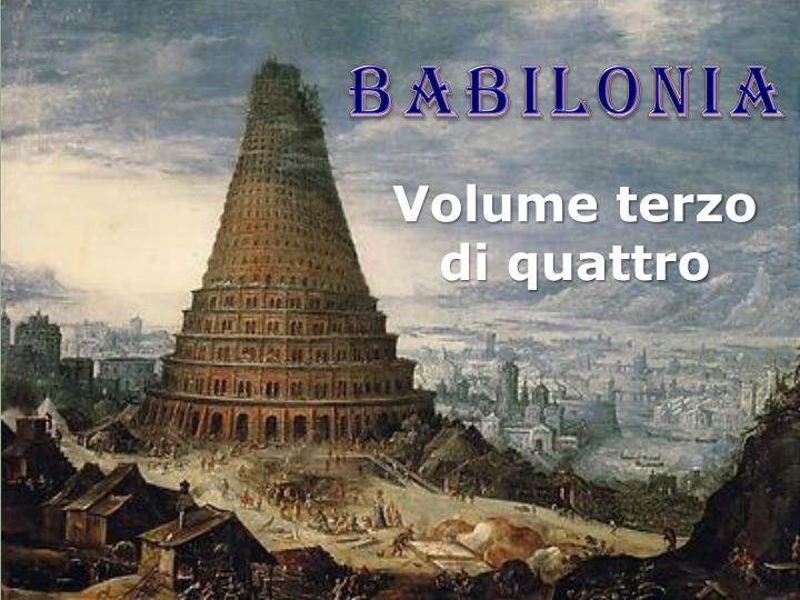 Volume terzo di quattro