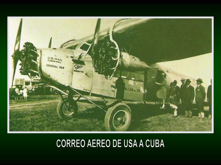 CORREO AEREO DE USA A CUBA