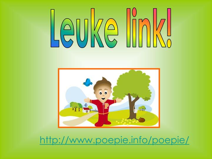 Leuke link!