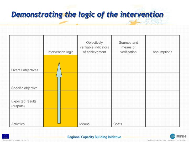 Demonstrating the logic of the intervention