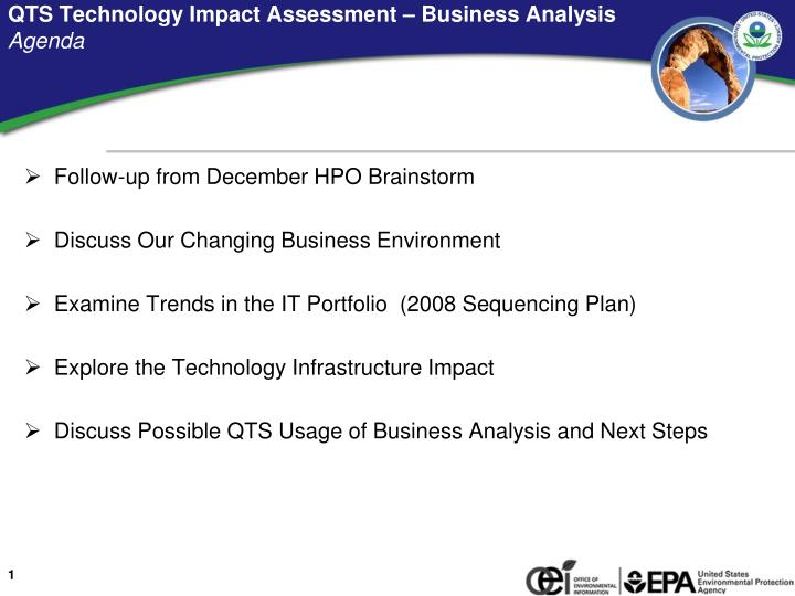 Qts technology impact assessment business analysis agenda