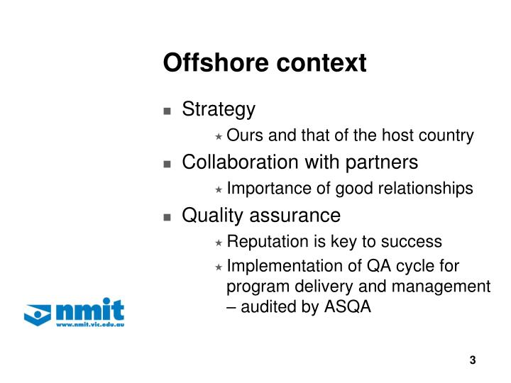 Offshore context