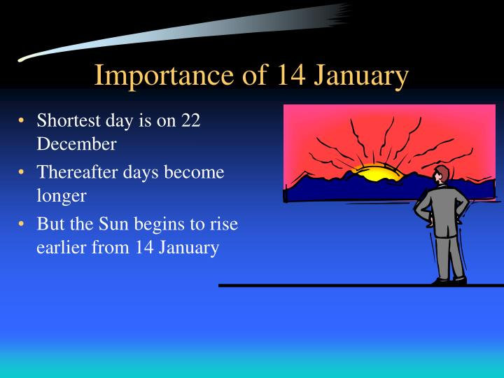 Importance of 14 January