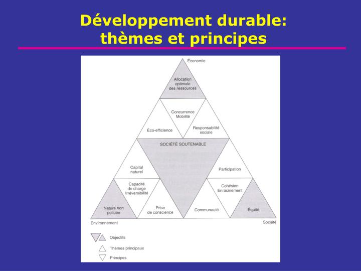 D veloppement durable th mes et principes