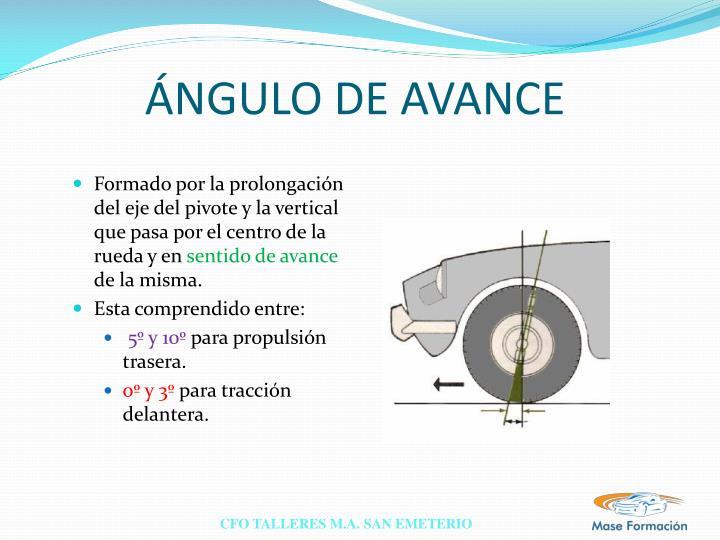 ÁNGULO DE AVANCE