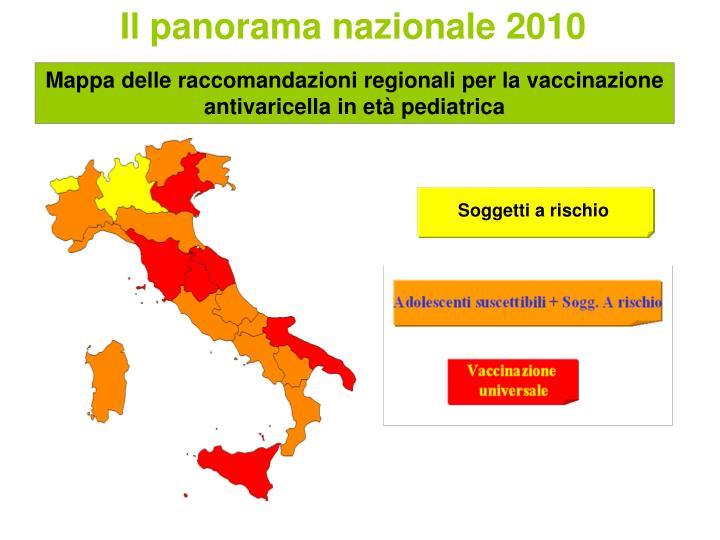 Il panorama nazionale 2010