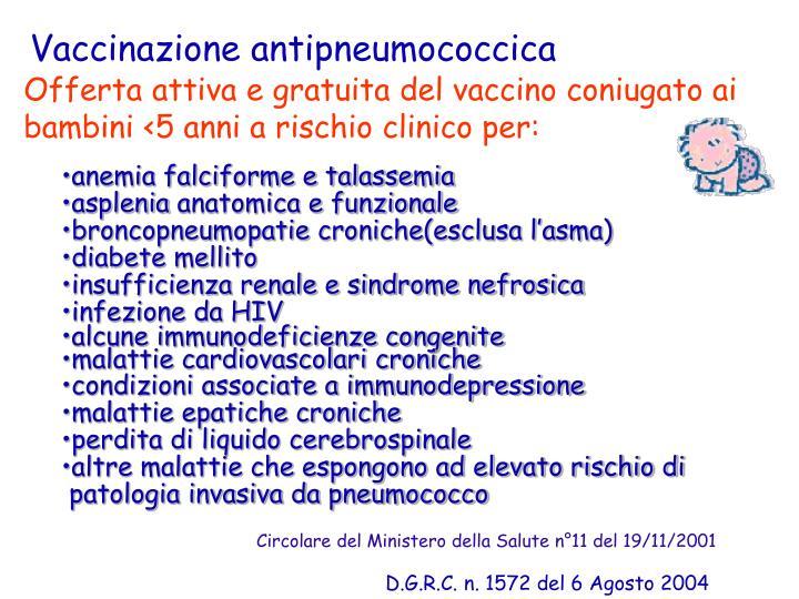 Vaccinazione antipneumococcica