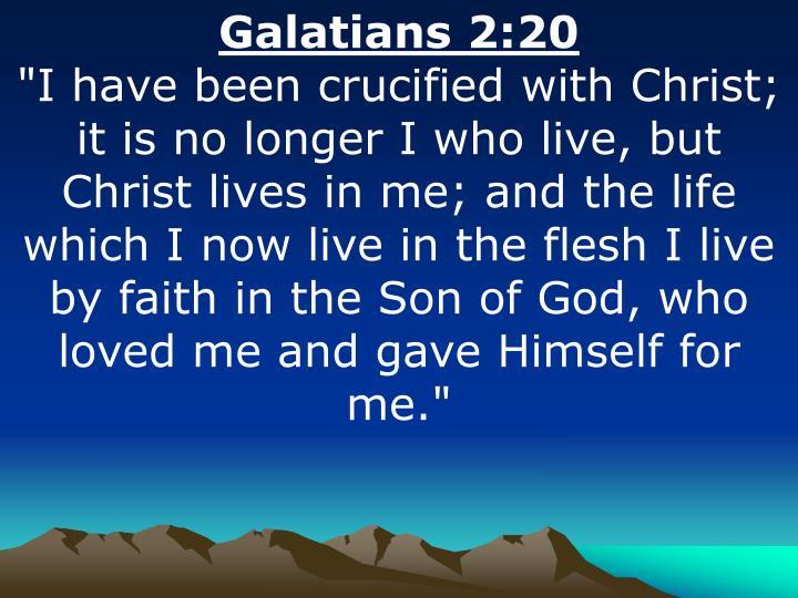 Galatians 2:20