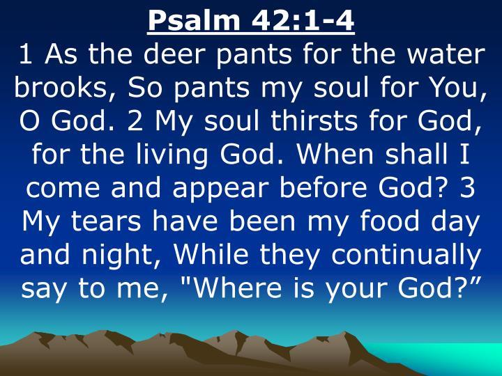 Psalm 42:1-4